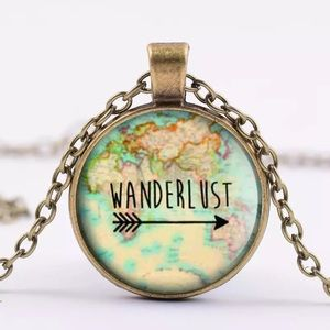 Jewelry - 🌟4/$20🌟 Wanderlust Necklace Travel Globe Arrow